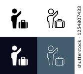 pickup location icon set | Shutterstock .eps vector #1254807433