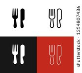 restaurant icon set | Shutterstock .eps vector #1254807436