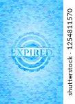 expired light blue emblem with... | Shutterstock .eps vector #1254811570