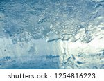 the texture of the ice. the... | Shutterstock . vector #1254816223