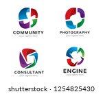 logo design for photography ... | Shutterstock .eps vector #1254825430