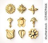 3d rendering beautiful golden... | Shutterstock . vector #1254829666