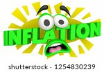 inflation higher rising costs... | Shutterstock . vector #1254830239