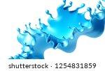 beautiful turquoise paint... | Shutterstock . vector #1254831859