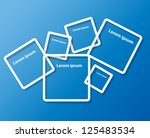 abstract background with frames ... | Shutterstock .eps vector #125483534