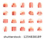 property colors icon set.... | Shutterstock .eps vector #1254838189