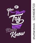 typography design  motivational ... | Shutterstock .eps vector #1254838723