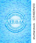 airbag sky blue emblem with... | Shutterstock .eps vector #1254839653