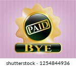 gold emblem or badge with paid ... | Shutterstock .eps vector #1254844936