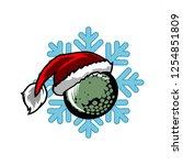 golf santa snow flake logo   Shutterstock .eps vector #1254851809