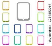 tablet icon in multi color....