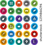 white solid icon set  toilet...   Shutterstock .eps vector #1254866296
