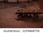 boat dock at sunset | Shutterstock . vector #1254868750