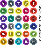 white solid icon set  route... | Shutterstock .eps vector #1254869353