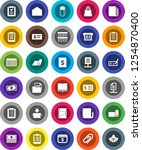 white solid icon set  toilet... | Shutterstock .eps vector #1254870400