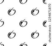 apple fruit leaf vector plain...   Shutterstock .eps vector #1254871870