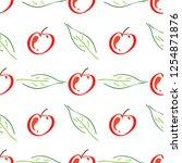 apple fruit leaf vector color...   Shutterstock .eps vector #1254871876