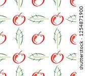 apple fruit leaf vector color...   Shutterstock .eps vector #1254871900