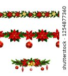 christmas elements for your... | Shutterstock .eps vector #1254877360