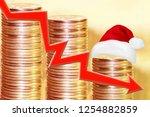 color icon arrow   graph on a... | Shutterstock . vector #1254882859