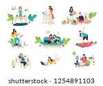 illustrations of girls and boys ... | Shutterstock . vector #1254891103
