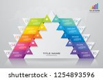 10 steps pyramid with free... | Shutterstock .eps vector #1254893596