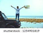 asian woman travel nature.... | Shutterstock . vector #1254901819