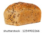 whole grain bread isolated on... | Shutterstock . vector #1254902266