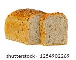 whole grain bread isolated on... | Shutterstock . vector #1254902269