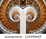 detail of the wood spiral... | Shutterstock . vector #125490659