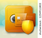 guarded safe box  credit card ...   Shutterstock .eps vector #1254911803
