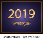 2019 happy new year background... | Shutterstock .eps vector #1254914230