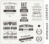 set of wedding invitation... | Shutterstock .eps vector #125491973