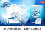 laundry detergent ad. stain... | Shutterstock .eps vector #1254928516