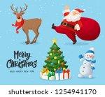 vector illustration of santa...   Shutterstock .eps vector #1254941170