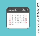 calendar september 2019 year in ... | Shutterstock .eps vector #1254941470