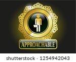 golden emblem or badge with... | Shutterstock .eps vector #1254942043