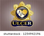 gold badge or emblem with... | Shutterstock .eps vector #1254942196