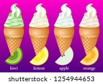 different types of fruit ice...   Shutterstock .eps vector #1254944653