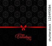 valentine's day background | Shutterstock .eps vector #125495084