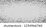 scattered dense balck dots.... | Shutterstock .eps vector #1254966760