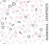 light pink vector seamless... | Shutterstock .eps vector #1254970273