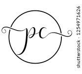 pc icon logo | Shutterstock .eps vector #1254971626