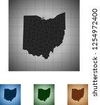 map of ohio | Shutterstock .eps vector #1254972400
