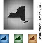 map of new york | Shutterstock .eps vector #1254972403