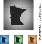 map of minnesota | Shutterstock .eps vector #1254972433