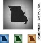 map of missouri | Shutterstock .eps vector #1254972436