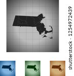 map of massachusetts | Shutterstock .eps vector #1254972439