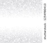 vector falling silver glitter... | Shutterstock .eps vector #1254980413
