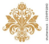 damask graphic ornament. floral ... | Shutterstock .eps vector #1254991840